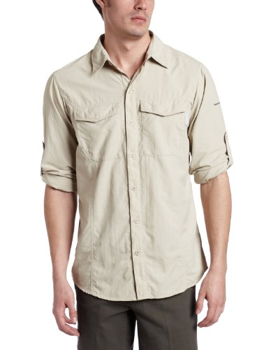 Columbia Men'Insect s Long Sleeve Shirt Blocker L Braun - fossil