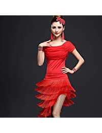 cf2690f43bcc Dancewear Balli Latino-Americani Completi per Donna da esibizione Chinlon  Nylon Fiocco 2 Pezzi