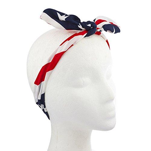 n Vierte von Juli Amerikanische Flagge Schleife Headwrap Stirnband (Vierten Juli-zubehör)