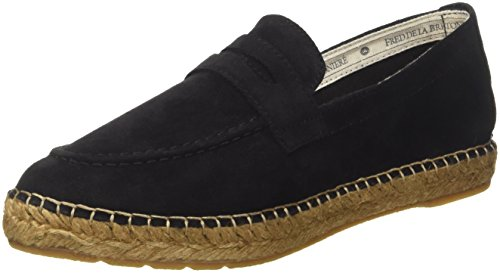 Fred de la Bretoniere Damen Loafer/Slipper Espadrilles, Schwarz (Black), 37 EU (Loafer Handgenähte)