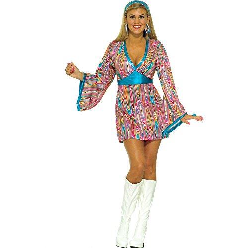 Forum Novelties Wild Swirl Kleid Kostüm, X-Small/Small