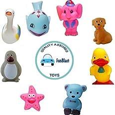 FunBlast Chu Chu Bath Toys (Set of 8) Multicolor (ChuChu Toys)