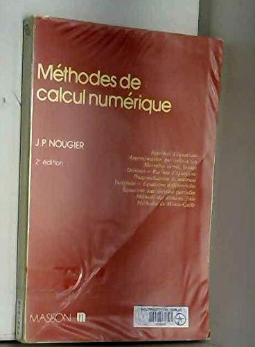 Méthodes de calcul numérique