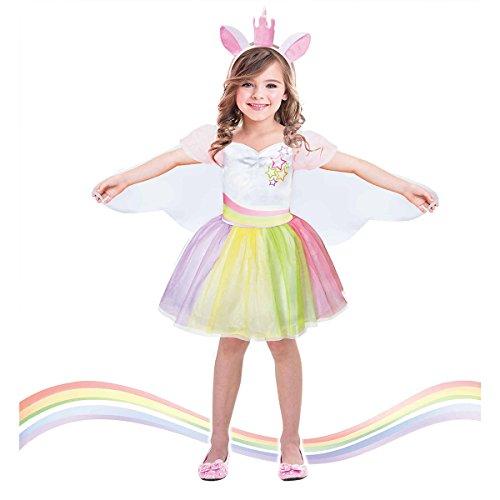 tüm Kinder mit Stirnband und Elfen Flügel für Einhorn Party, Geburtstag (Elfen Kostüm Bilder)