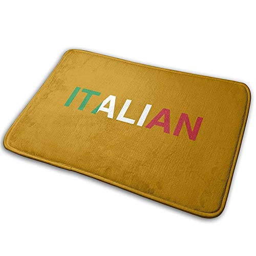 flys Lis Home Non Slip Door Mat Outdoor,Decorative Garden Office Bathroom Door Mat with Non Slip, Italian Flag Entry Way Outdoor Door Mat Bathroom Comfort Mats Rubber Non Slip Backing Indoor Uses