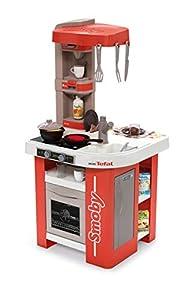 Smoby 311042 - Cocina y Sus Accesorios, Color Rojo