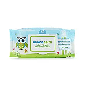 Mamaearth India's First Organic Bamboo Based Baby Wipes (72 Wipes)