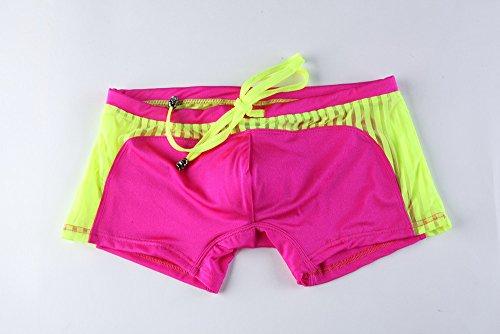 Direkte Mesh Shorts (JKLEUTRW Herren Shorts Männer Stitching Drawstring Boardshorts Atmungsaktiv Mesh Schwimmshorts Schnelltrocknend Regular Fit Beach Sportstyle Gym Outdoors Trendige Lightweight Badeanzug)