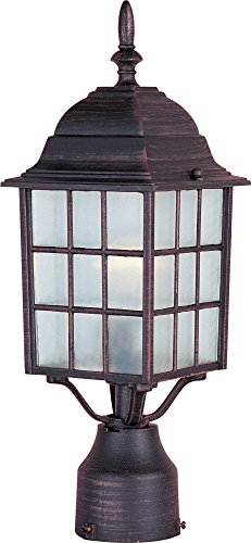 Maxim Lighting 1052 North Church Outdoor Pole/Post Mount Lantern, Rust Patina Finish, 6 by 17-Inch by Maxim Lighting -