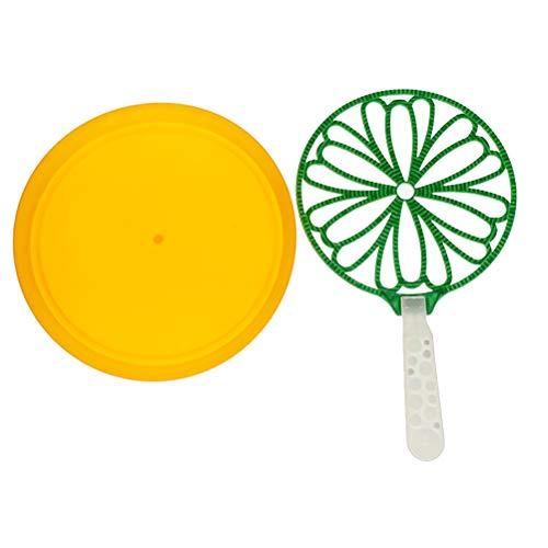 Toyvian Riesige Blase Zauberstäbe Sonnenblume Form Blase Machen Zauberstäbe Blase Maker Schlag Spielzeug mit Tablett für Kinder Kinder Sommer Spaß Spielzeug - Sonnenblume Bubble