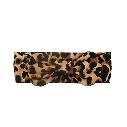 yyuezhi Kinder Haarband Mädchen Stirnband Bogen Haarschmuck Leopard Stirnband elastisches Stirnband Baby Stirnband Bogen niedlich Haarband Baby Haarband Kopfbedeckung