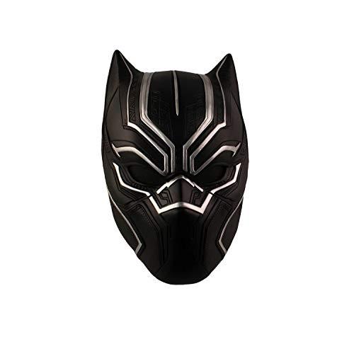 KYOKIM Kind Erwachsener Black Panther Maske Halloween Mottoparty Schwarze Helm Cosplay Karneva Herren Held Vollen Kopf Deluxe Harz Replik