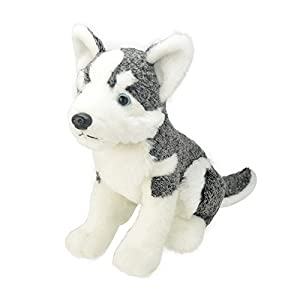 Wild Planet All About Nature-25cm Husky-Hecho a Mano, Peluche Realistico, K8224
