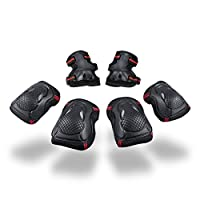 IvyH Protective Gear - 6 pcs/Set Outdoor Sports Protective Gear Knee Pads Elbow Pads Wrist Protector Skating Cycling Sports Gear For Children & Adults
