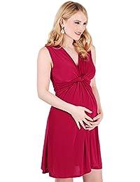 KRISP Umstandsmode Kleid mit Raffung Knoten Schleife
