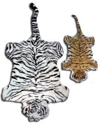 Tigerfell - Superplüsch weiss ca. 140 cm (Kopf bis Schwanz)