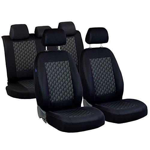 Preisvergleich Produktbild Mokka Sitzbezüge - 1 Set - Farbe Premium Schwarz Effekt 3D