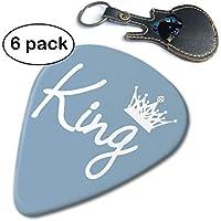 Lkadasjlda Queen Crown Lot de 6 médiators en celluloïd pour Guitare Acoustique, électrique et Basse, Blanc.96mm