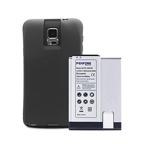 Perfine Batteria per Samsung Galaxy Note4 [9600mAh] Estesa per Galaxy Note4 N910/N910F/N910H Batteria di Ricambio con Custodia di Protezione TPU Full Edge+(Garanzia di 180 Giorni) con NFC