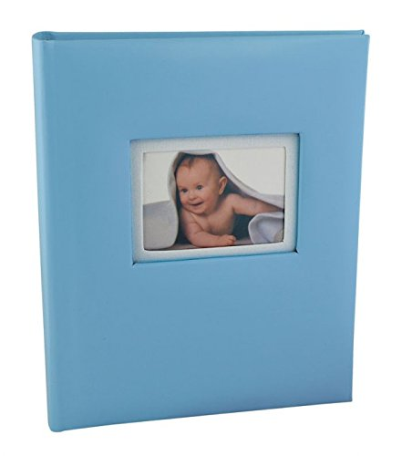 Album portafoto bimbo da 30 fogli - dimensioni album mm. 175x210 h. 35 foto su copertina mm. 55x75 - completo di scatola - azzurro