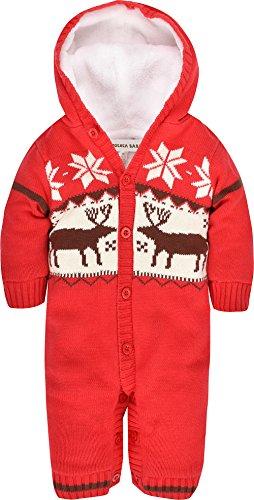 ZOEREA maglione bambino tutine neonato bambino appena nato del pagliaccetto del bambino della tuta a maniche lunghe Natale magliata abbigliamento da bimbi cotone velluto cardigan