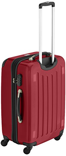 HAUPTSTADTKOFFER - Alex - 2er Koffer-Set Hartschale glänzend, 65 cm + 55 cm, 74 Liter + 42 Liter, Graphit-Blau Waldgrün-Rot
