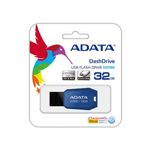 Adata UV100 USB 2.0 32GB Pen Drive (Blue)