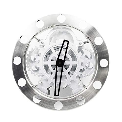 BGGZXX Reloj De Pared del Engranaje Giratorio 8 Pulgadas, Viento Industrial Reloj Creativo Mudo, 20Cm * 20Cm, El Home Bar Cafe
