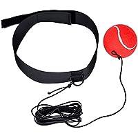 Cozywind Boxen Training Ball mit Kopfband für Boxer Reflex Speed Training und Halten Sie Gute Fitness Boxen Kampfübung (rot)