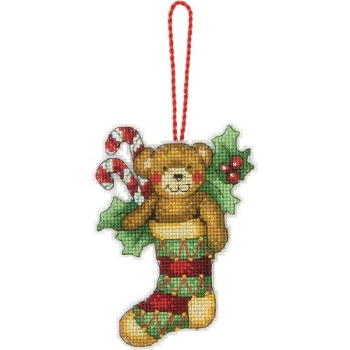 Dimensions Gezählter Kreuzstick Set, Susan Winget Bear Ornament (Kits Einfach Needlepoint)