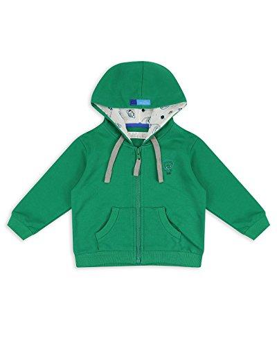 The Essential One - Baby Kids Boys Bailey Bear Hoodie - Green - EOT626