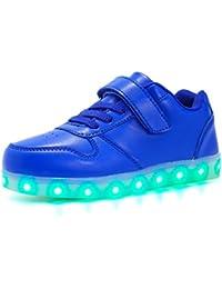 Axcer LED Scarpe Sportive per Bambini Ragazze e Ragazzi 7 Colori USB Carica  Lampeggiante Luminosi Running Sneakers con Luci… 39a456401ff