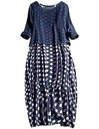e7ddfa05c VEMOW Faldas de Mujer Tops Blusa Impresión de Punto de Las Mujeres Fuera  del Hombro Mini