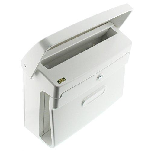 BURG-WÄCHTER, Briefkasten in Matt-Optik, A4 Einwurf-Format, Kunststoff, Bremen 885 W, Weiß - 3