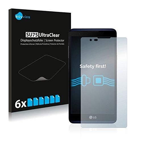 6x Savvies SU75 UltraClear Displayschutz Schutzfolie für LG X Max (ultraklar, einfach anzubringen)
