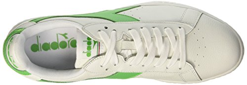 Diadora Game Ciré, Chaussures Unisexe Low-top - Multicolore Adulte (c6104 Blanc / Vert Irlandais)