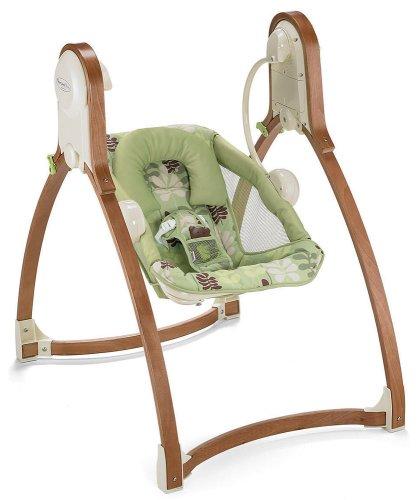 Fisher-Price P6135-0 - Baby Gear Holz Babyschaukel