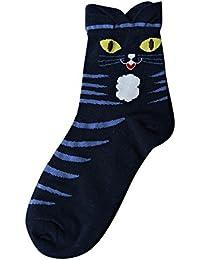 Calcetines térmicos Mujer Invierno Lindos Dibujos Animados encantadores Calcetines Patrón Animal Calcetines Calzado Suave
