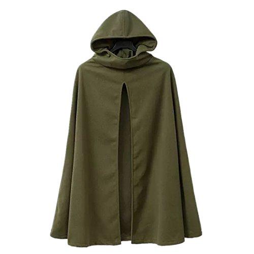 leichen Absatz Cape-Mantel Deckmantel (Chinesisch L, Armee Gruen) (Chinesische Vampir Kostüme)
