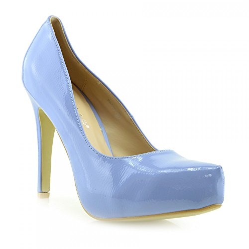 Kick Footwear - Donna Anne Michelle Tribunale Del Brevetto Scarpe Tacchi Alti Smart Partito Del Lavoro Ladies Shoes Blu