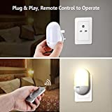 LED Night Light, OMERIL Night Lights Plug in Wall with Remote Control, Timing Function, Warm Yellow/Cool White Switchable and 3 Brightness Adjustable, Dimmable Light for Kids/Baby Room, Hallway, etc.