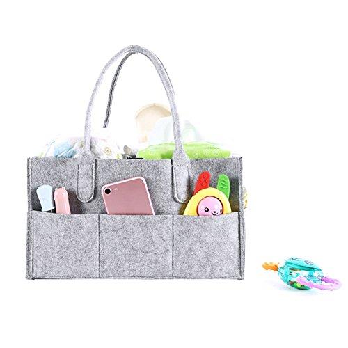 iBaste Baby Windel Caddy, Kindergarten Aufbewahrungsbox und Auto Organizer für Windeln und Baby Tücher
