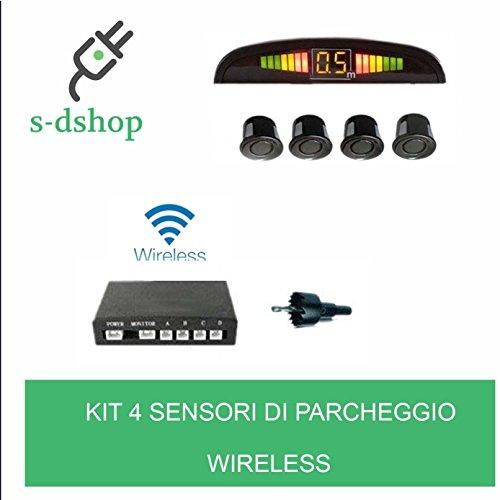 S-d shop - kit 4 sensori di parcheggio wireless universali retromarcia display auto furgone
