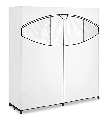 Whitmor Extrabreiter mobiler Kleiderschrank mit Stauraum, weiß (Jewelry Hanging Organizer-reißverschluss)