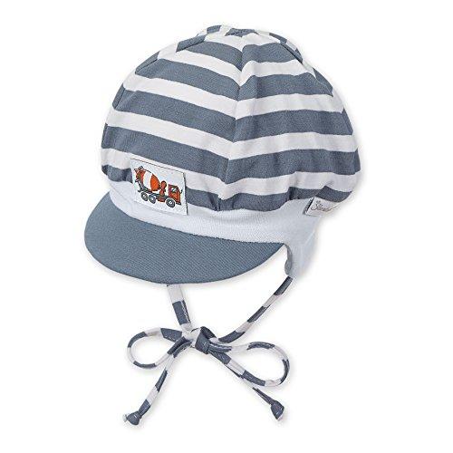 Sterntaler Ballonmütze für Jungen mit Bindebändern, Alter: 5-6 Monate, Größe: 43, Grau (Graublau 537)