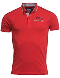 BLZ jeans - Polo homme rouge manches courtes