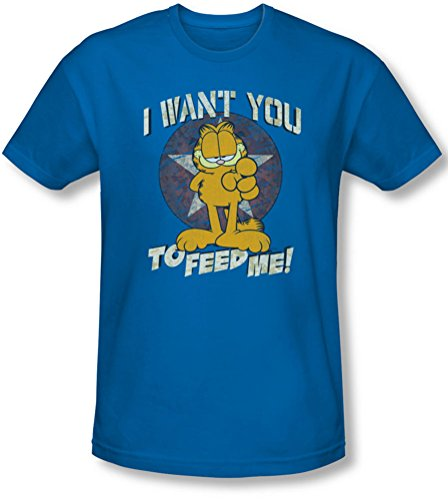 Garfield - Herren I Want You T-Shirt In Königs Royal