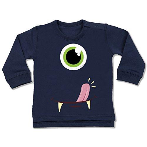 Shirtracer Karneval und Fasching Baby - Monster Gesicht Kostüm - 12-18 Monate - Navy Blau - BZ31 - Baby Pullover (Bestien Kostüme)