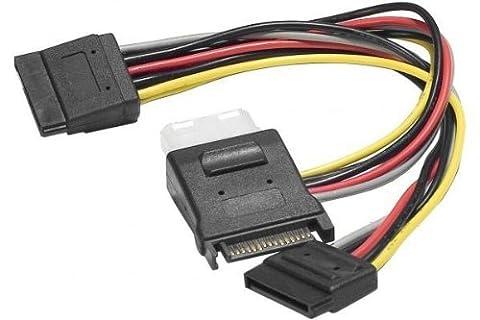 Dexlan Cable en Y alimentation SATA vers 1 alim Molex