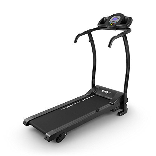 Klarfit Pacemaker X3 Laufband Heimtrainer (1,5 PS, 12 km/h, Trainingscomputer, Pulsmesser, 3 Steigungsstufen, zusammenklappbar) verschiedene Farben